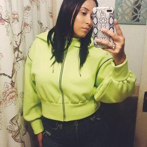 Neon Green Hooded Jacket from Zara